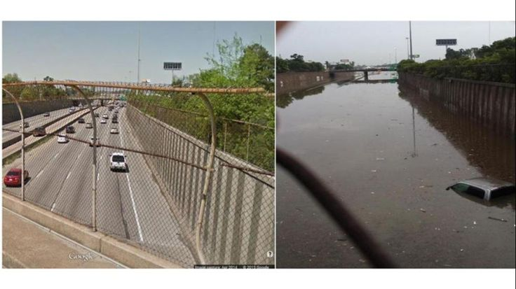 Too bad there is not a way to pipe all that water to drought-ridden California! | 8 Jaw-Dropping Images from the Houston Flood Nightmare - weather.com