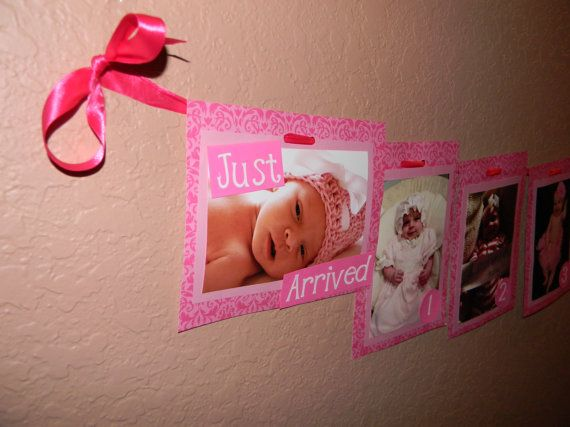 FIrst Birthday Picture Banner by CreationsByCrys on Etsy, $17.50