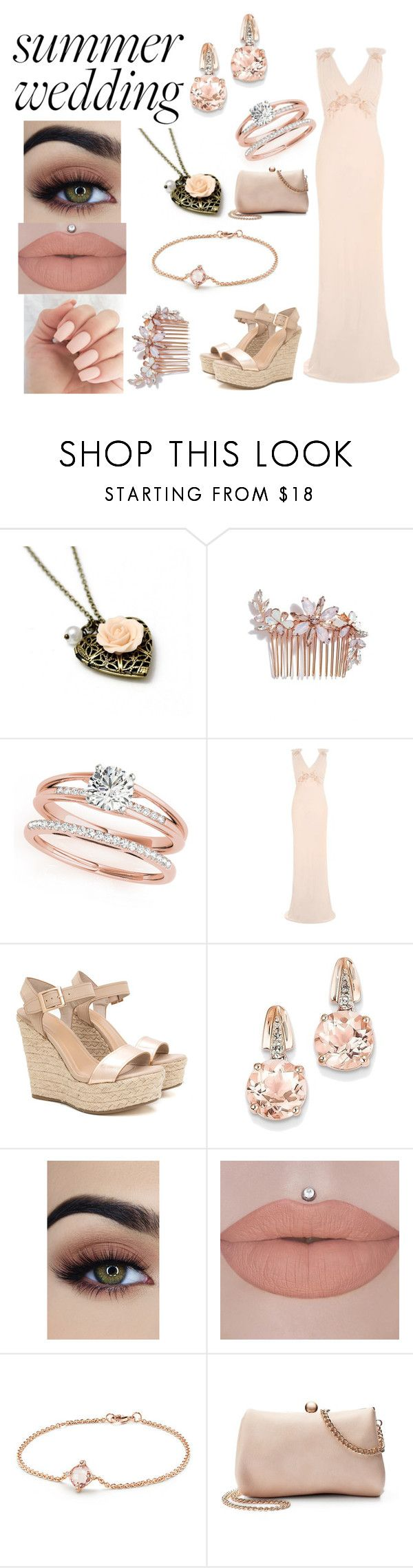 """rose gold summer wedding"" by mialove421 ❤ liked on Polyvore featuring Camilla Christine, Topshop, BillyTheTree, David Yurman and LC Lauren Conrad"