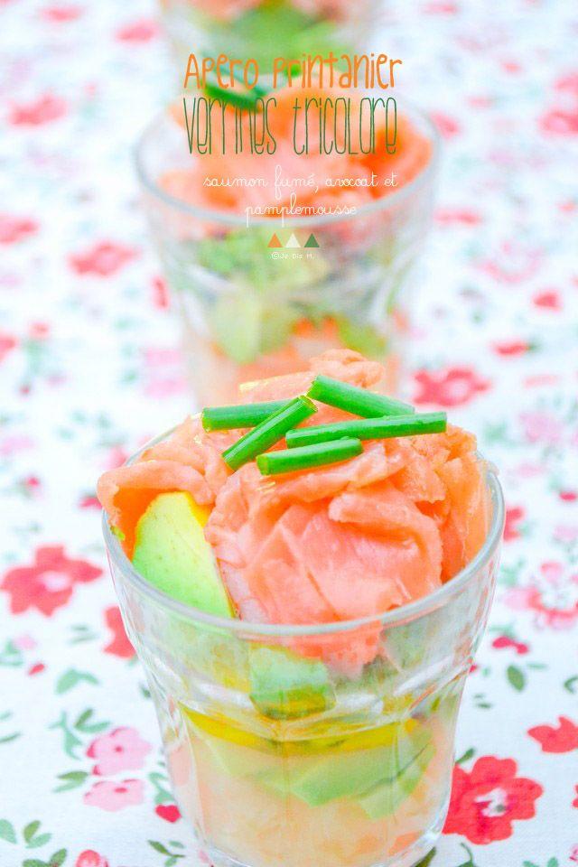 Je dis M. Food & Blog: Verrines tricolore pour le Printemps