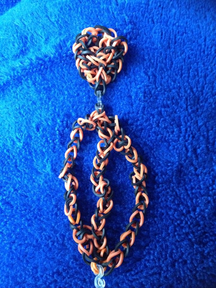 Halloween Spider Web Bracelet. Made by myself not from YouTube. Can also be made into a necklace and earrings etc.