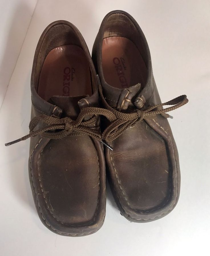 Clarks Originals Wallabees Beeswax Leather Brown Women's 7M #Clarks #Oxfords #Casual #shoes #work #career #ebay #shop #fashion #comfort
