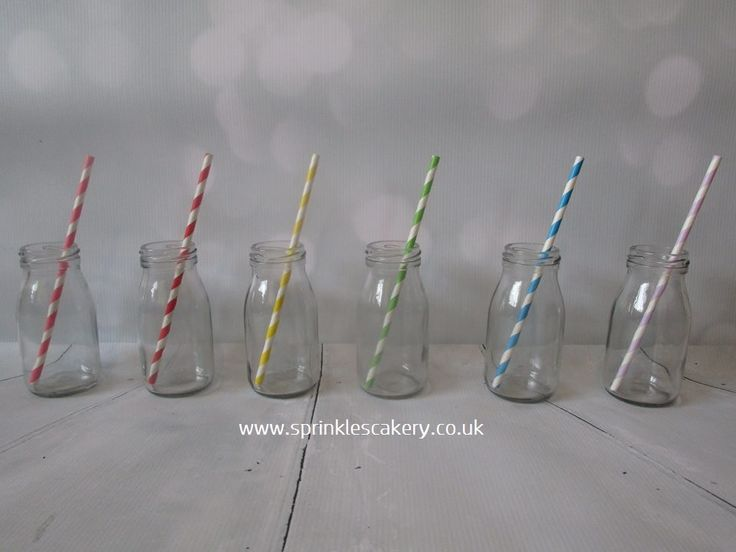 These cute milk bottles are available to hire from our website and can be easily customised with colourful straws to match the theme of your event.