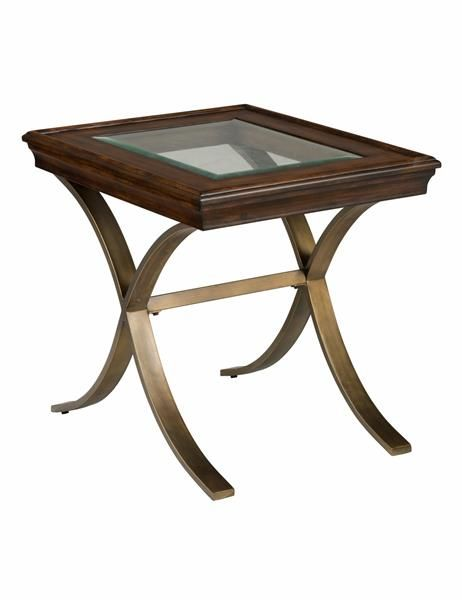 Ashland Contemporary Milk Chocolate Solid Wood Metal End Table