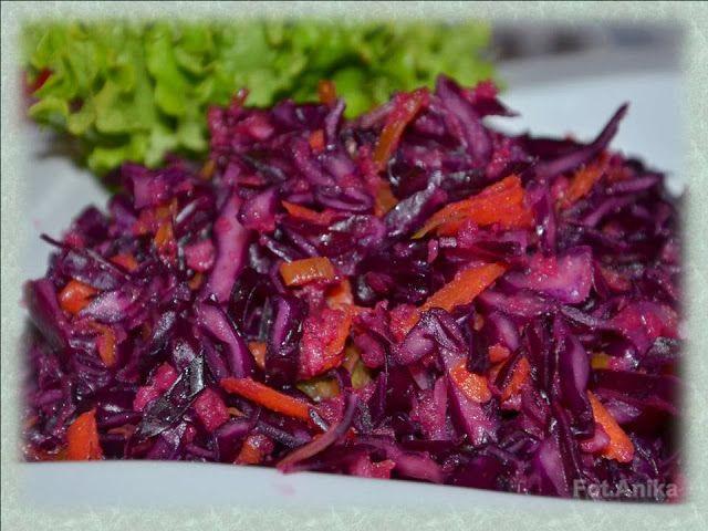 Domowa kuchnia Aniki: Surówka z czerwonej kapusty