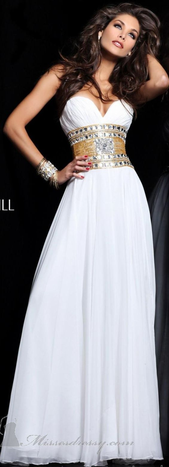 Sherri Hill couture ~  Extremely beautiful!  jean dress#2dayslook #maria257893 #jeansfashion  ww.2dayslook.com     jaglady