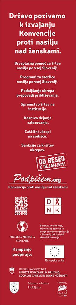 Podpiramo akcijo osveščanja javnosti ob 25. novembru - Mednarodnem dnevu za odpravo nasilja nad ženskami.
