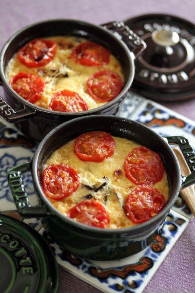 夏野菜のミニココットキッシュ/ Mini cocotte summer vegetable quiche. #recipes #staub
