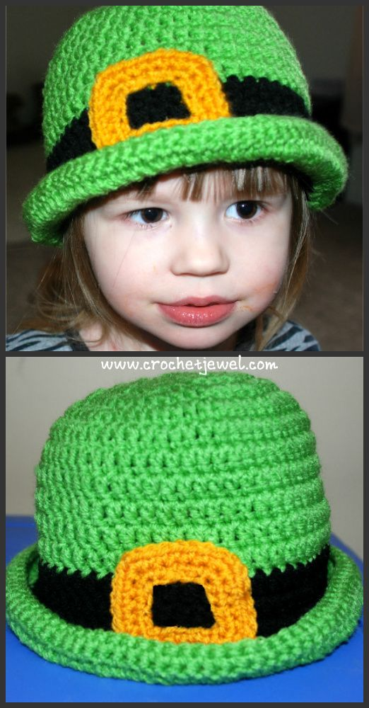 Crochet St. Patrick's Hat (All Sizes) My Crochet You Tube Channel: https://www.youtube.com/user/amray767 If you tell others about my work, please only link back to my blog, but don't copy my patterns to your site. Also you can sell anything you make from my patterns, but don't sell the free
