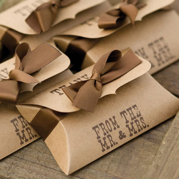 Kraft Pillow Favor Box