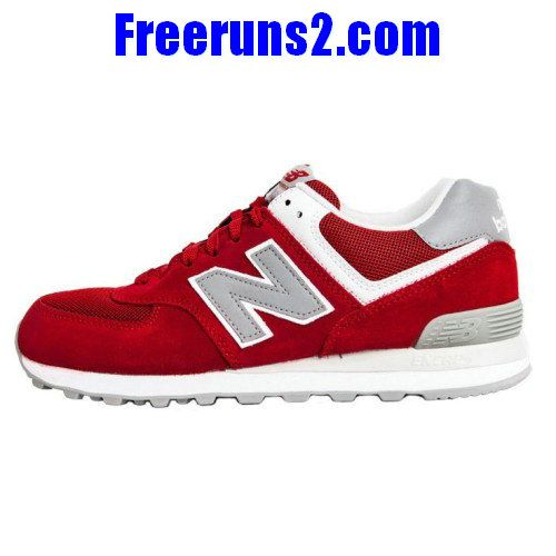 New Balance 574 retro lovers Suede Red Grey women NB Shoes