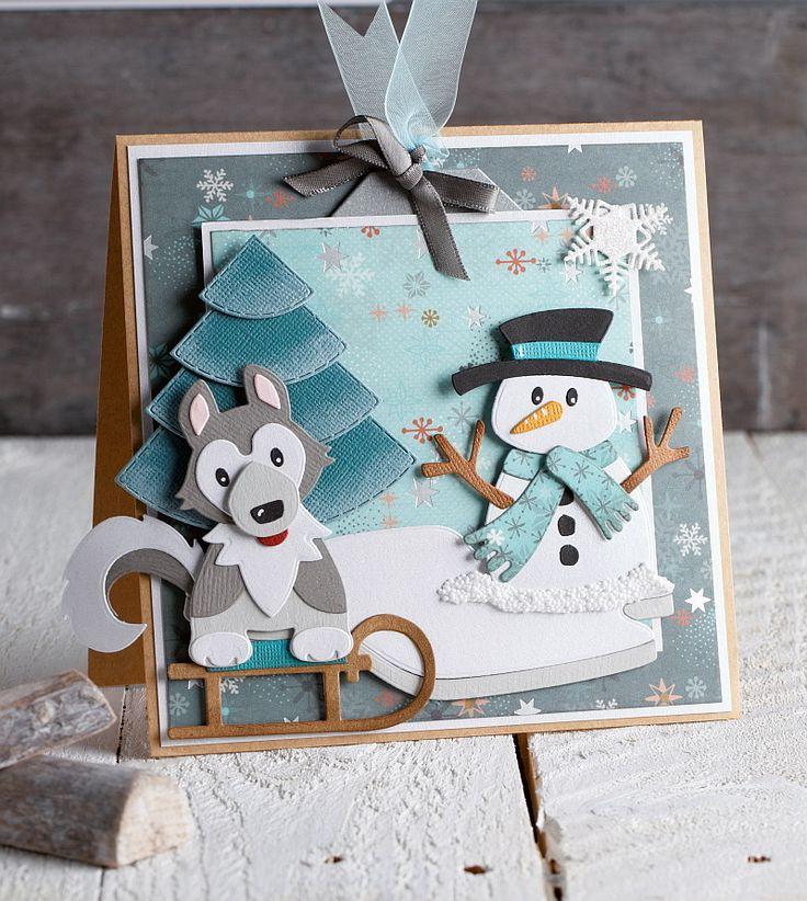 Je krijgt spontaan zin in sneeuw en kou als je ziet hoe de kerstman en zijn vrienden deze winterkaarten opvrolijken! Maak de kaarten ook zelf.