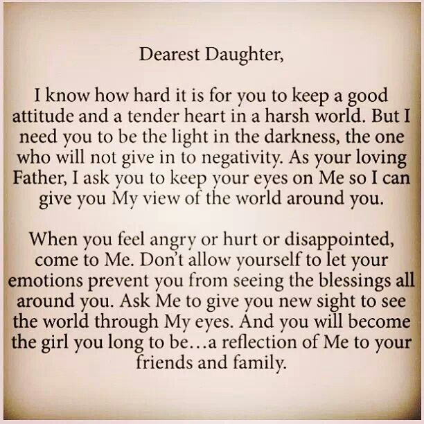 Letter Daddy Daughter