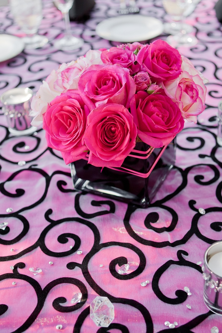 hot pink roses centerpieces www imgkid com the image Dark Pink Rose Centerpieces Hot Pink Roses Centerpieces