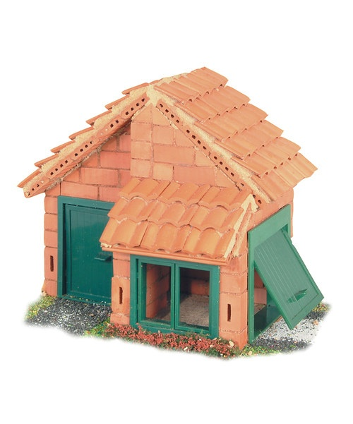 Teifoc house tile roof brick construction set mansions for Mud brick kit homes