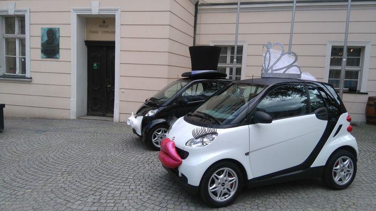 SMART LINE Zwariowane Wesela Auta do ślubu WeddingCar SmartCar FunnyCar Samochód na wesele Smarty do ślubu  www.smart-line.pl