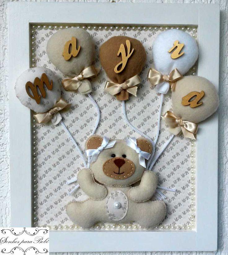 Porta Maternidade e decoração de quarto da Mayra.