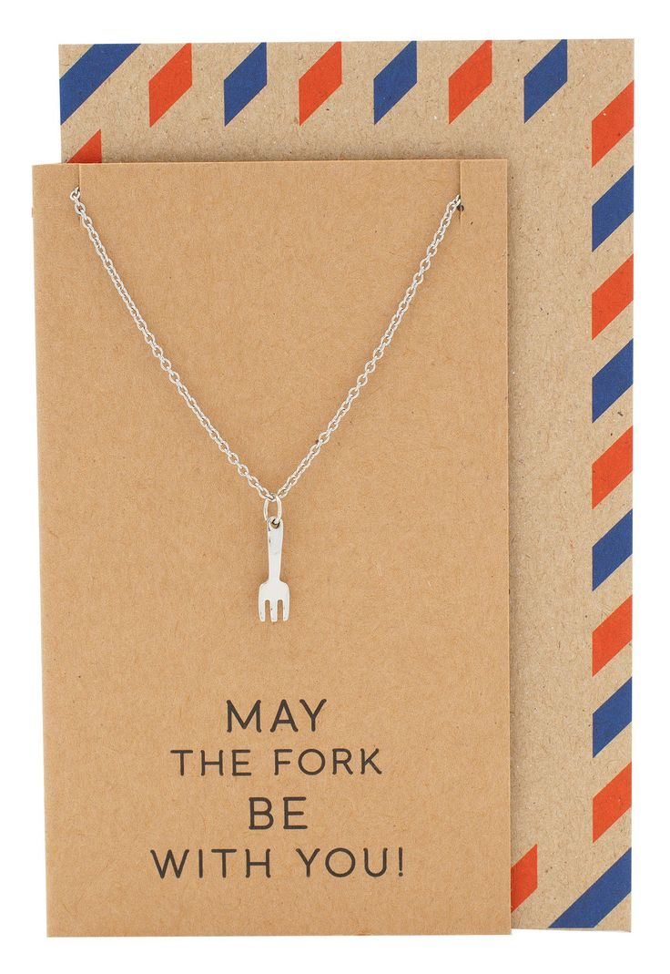 Color your card get well - Mariele Fork Charm Necklace Get Well Card Gift For Chefs
