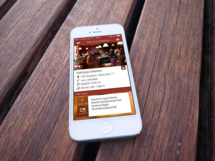 Az Ebédmenü okostelefon alkalmazásban részletes információkat találsz az éttermekről, elérhetőségekről, az ebédidőről és az árakról, sőt képeket is nézhetsz az étteremről!