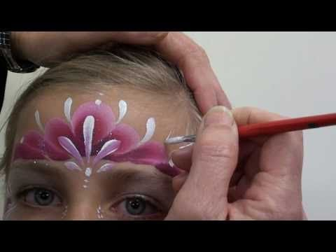 Face Paint a Princess Tiara with the TAG Berry One Stroke.