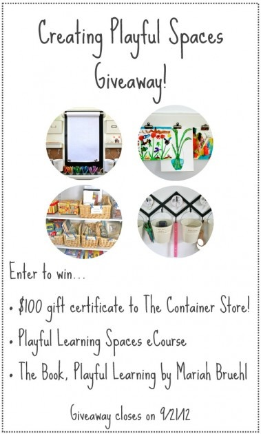 Creating Playful Spaces #Giveaway - Enter by Sept 21st!  I know you could use that Container Store Gift Certificate :)