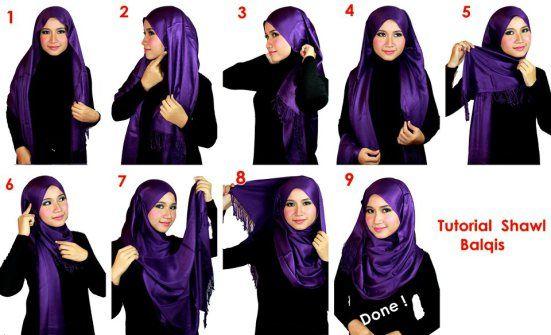 Cara Pakai Hijab Shawl With Hijab Tutorial