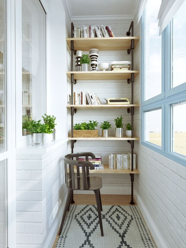 Small balcony - Fun 45 Square Meter Apartment With A Crossword Puzzle On The Bathroom Wall