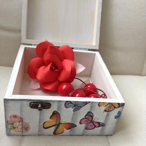jewelry box with butterflies
