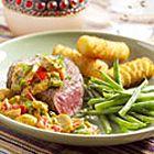 Biefstuk met stroganoffsaus - recept - okoko recepten