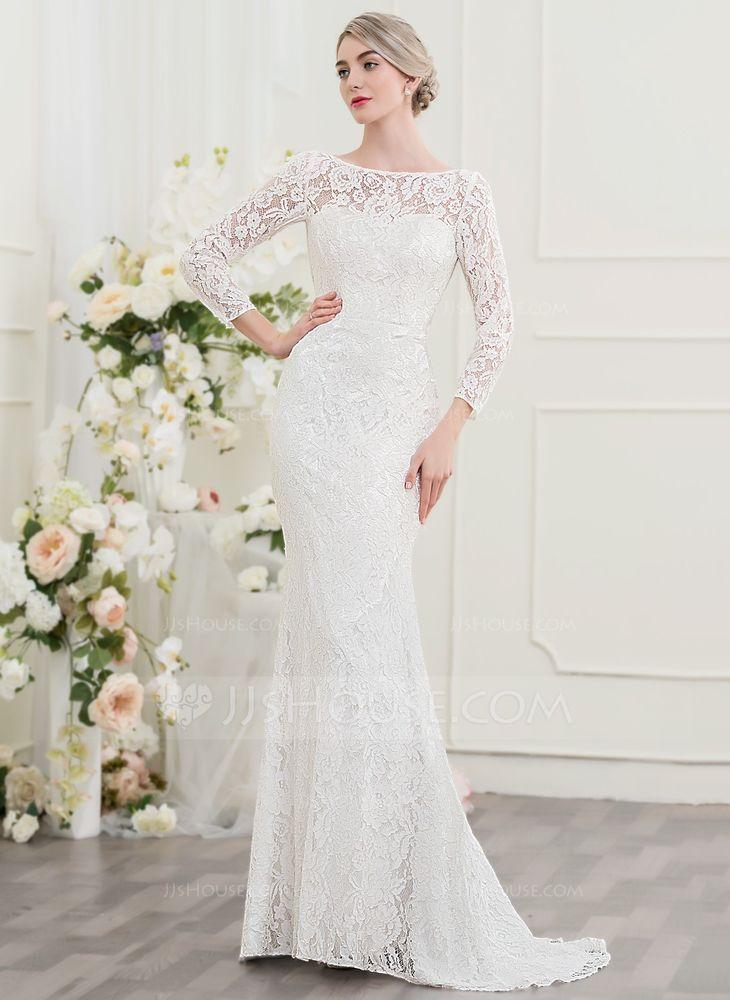 Ivory Trumpet/mermaid Lace Wedding Dress