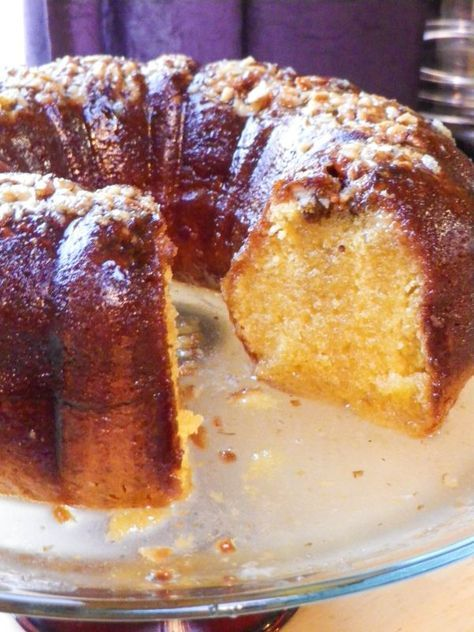 Boozy Rum Cake. Adapted from the classic Bacardi rum cake recipe, this cake is super boozy, super moist, and sure to be a hit.