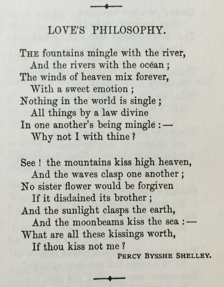 Percy Bysshe Shelley love poetry