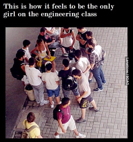 Hahaha....engineering class...Hey, how I met my hubby! Best thing that ever happened to me!