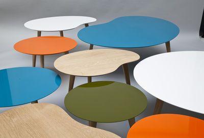 Table basse Lalinde ronde - XXL Ø 95 cm / Pieds bois Sentou