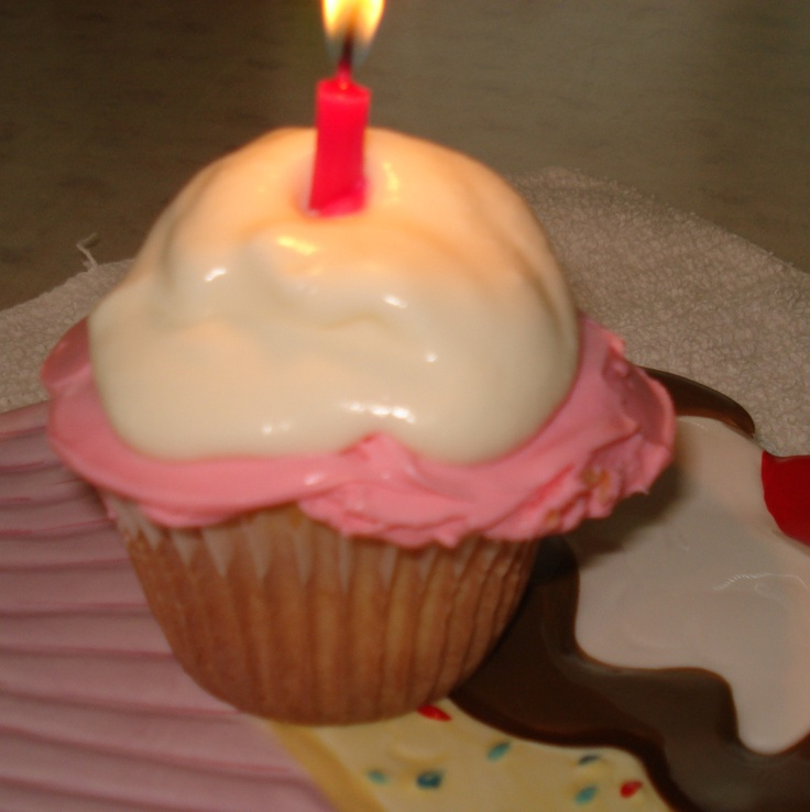 My perfect birthday cup cake