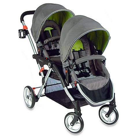 The Options LT Tandem Stroller is lightweight and folds easily with both seats on. It provides reversible seats that have six different seating options.