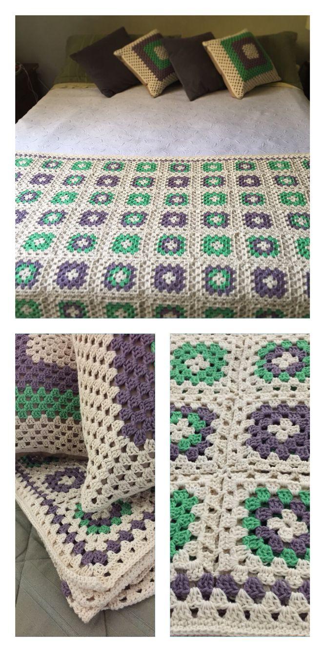 Regalo matrimonio! #crochet #piecera #cojines #grannysquare