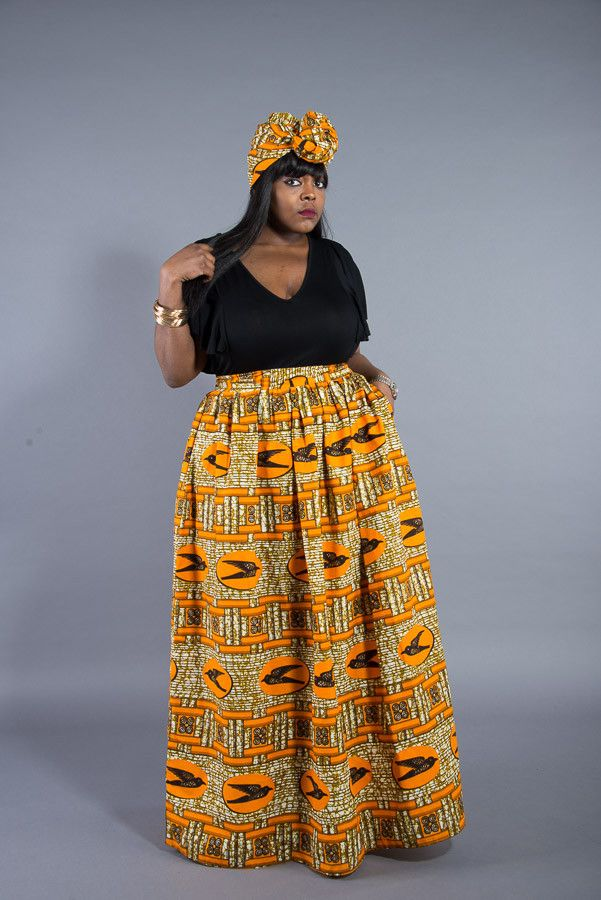 Ankara Maxi Skirt L Aviye African Print Maxi Skirt