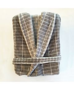 Citta Luxury Men's Grid Robe