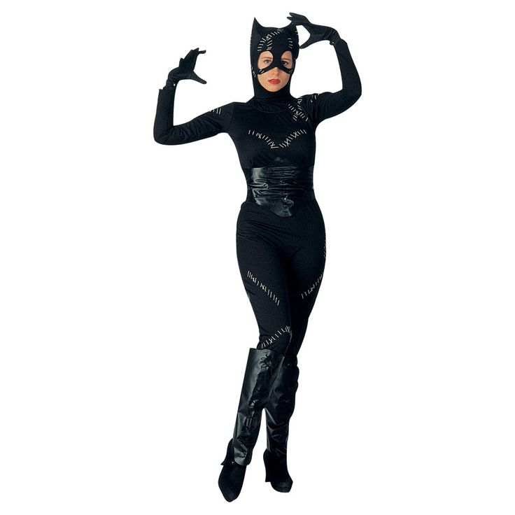 DC Comics Women's Catwoman Costume One Size Fits Most, Size: 12, Black