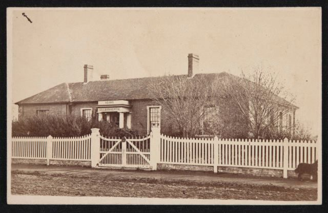 Goulburn Hospital c.1870 (built 1849) cnr Clifford and Sloane Streets (site of current NSW Police Station).