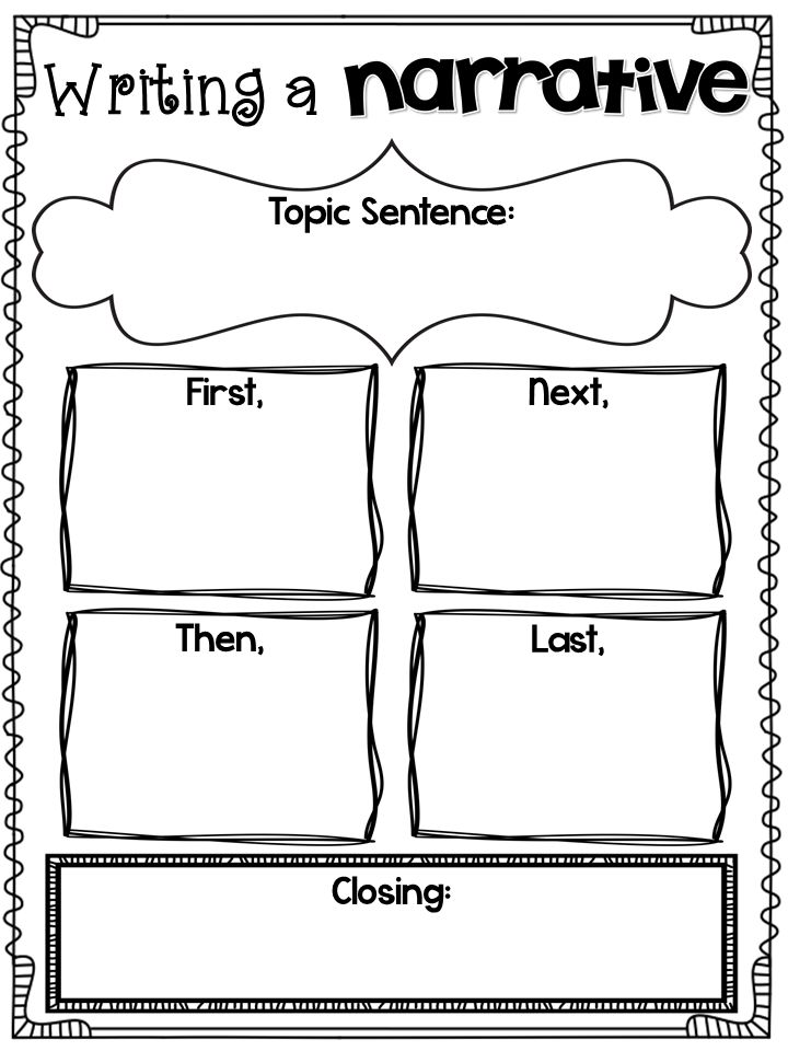 graphic organizers for writing a personal narrative