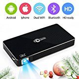 #8: Video Rechargeable Multimedia Home Pico ProjectorSupport 1080P Full HD  WIFI Wireless Connectivity Portable Mini Projector Max Throw 120-inch Screen OSRAM LED Lamps Work for 30000 Hour - phones (http://amzn.to/2cumGsb) printers (http://amzn.to/2cunwoO) shredders (http://amzn.to/2bXf0y6) projectors (http://amzn.to/2ch8mil) scanners (http://amzn.to/2bMXiIv) laminators (http://amzn.to/2ch9P8C)