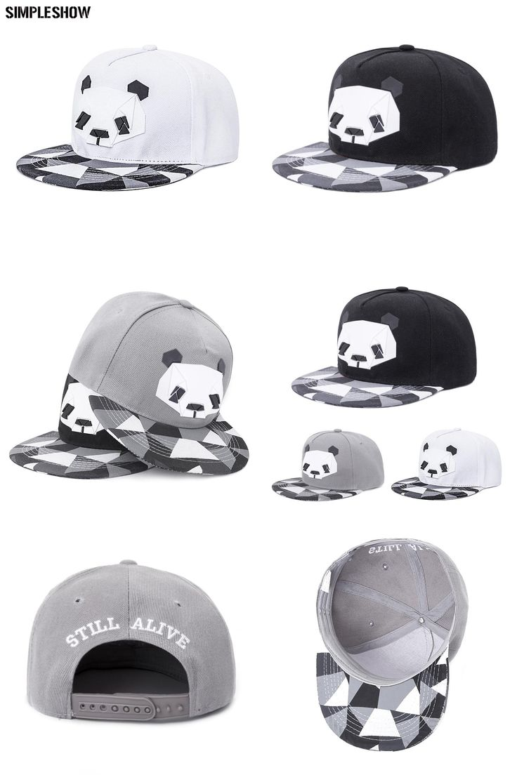 [Visit to Buy] 2017 New Fashion Snapback Cap For Men Women Snapback Hat Outdoor Hat Style Baseball Hat Cap Cute Panda Baseball Cap Adjustable #Advertisement