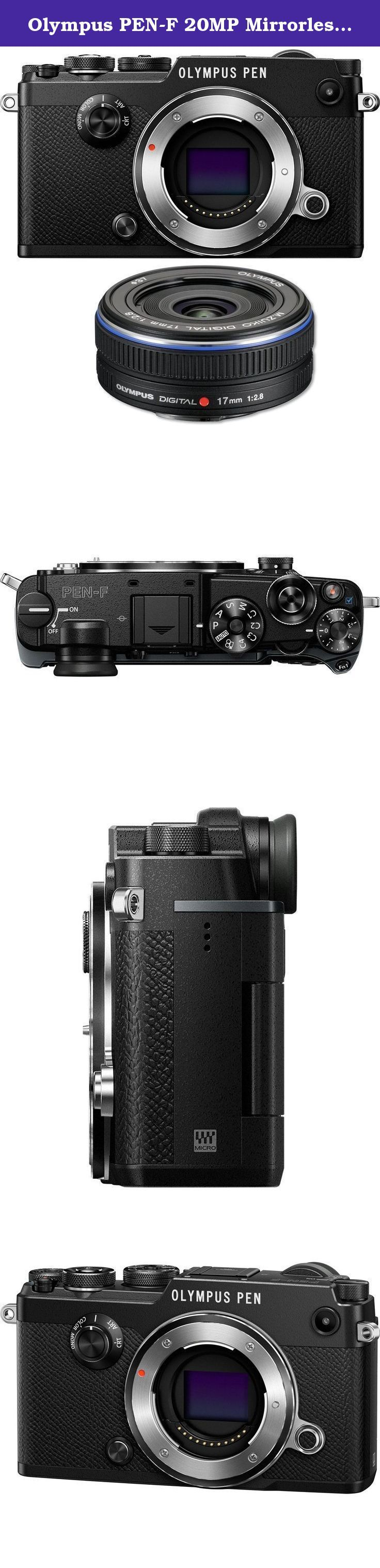 Olympus PEN-F 20MP Mirrorless Micro Four Thirds Digital Camera w/ 17mm f2.8 Lens Bundle includes PEN-F Digital Camera and M.Zuiko 17mm f2.8 Micro Four Thirds Wide-angle Pancake Lens. Bundle Includes Olympus PEN-F Mirrorless Digital Camera Body (Black) Olympus M.Zuiko 17mm f2.8 Micro Four Thirds Wide-angle Pancake Lens (Black) Rangefinder style cameras were all the rage in 1963.Now they're back. The beautifully-crafted PEN-F is ideal for street shooters, as a second camera for studio pros...