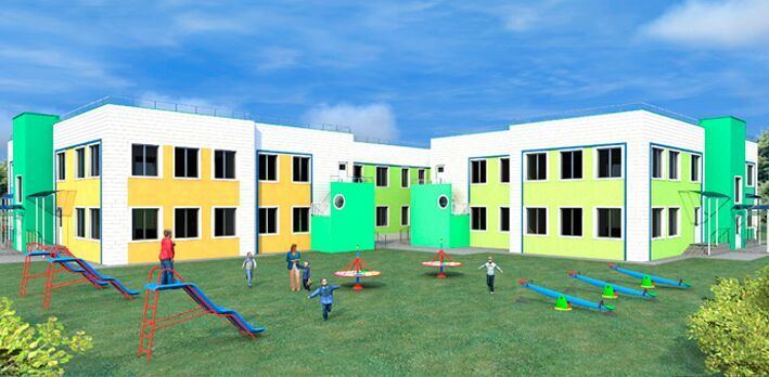 Детский сад на 250 мест http://arch-proekt.ru/obshhestvennye-zdanija