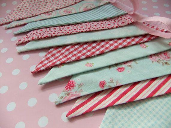 beautiful fabric bunting