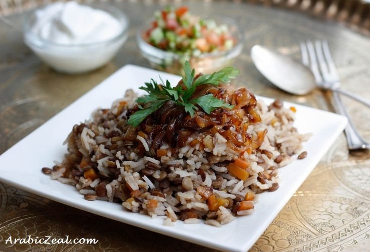 Mujadara is a personal favorite. I normally add a cinnamon stick to the rice while it cooks.
