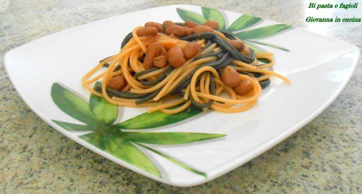 Bi pasta e fagioli: spaghetti al nero di seppia e spaghetti al peperoncino