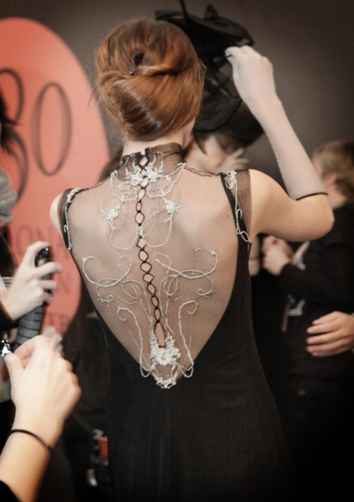 Moments by Celia, just before our fashion show...  www.nataliecapell.com